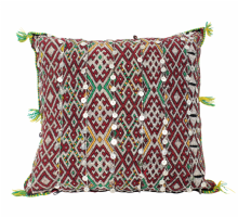 Moroccan Kilim Cushion Vintage Authentic Wool Hand Embroidered Hand Stitched 45 cm x 42 cm VC116-7